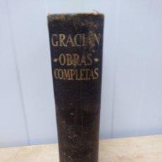 Libros: GRACIAN .OBRAS COMPLETAS.AGUILAR 1944. Lote 98661062