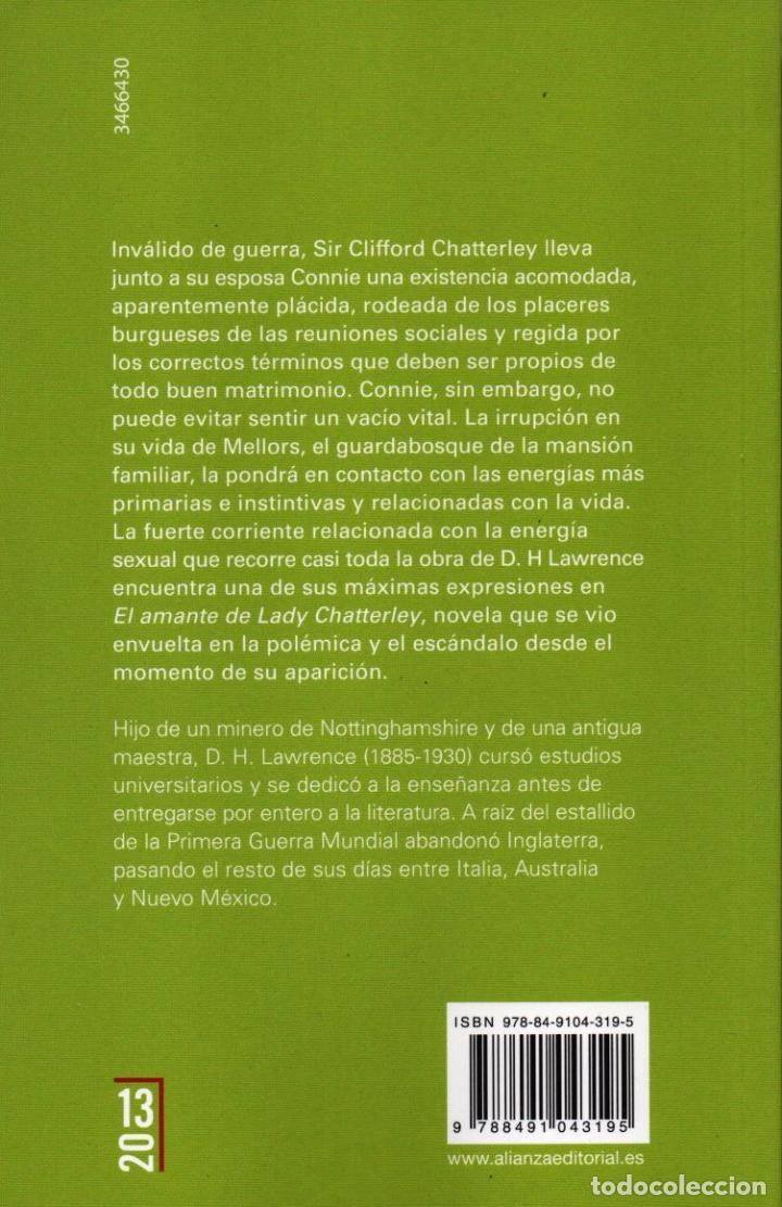 Libros: EL AMANTE DE LADY CHATTERLEY de D. H. LAWRENCE - ALIANZA EDITORIAL, 2016 - Foto 2 - 229503445