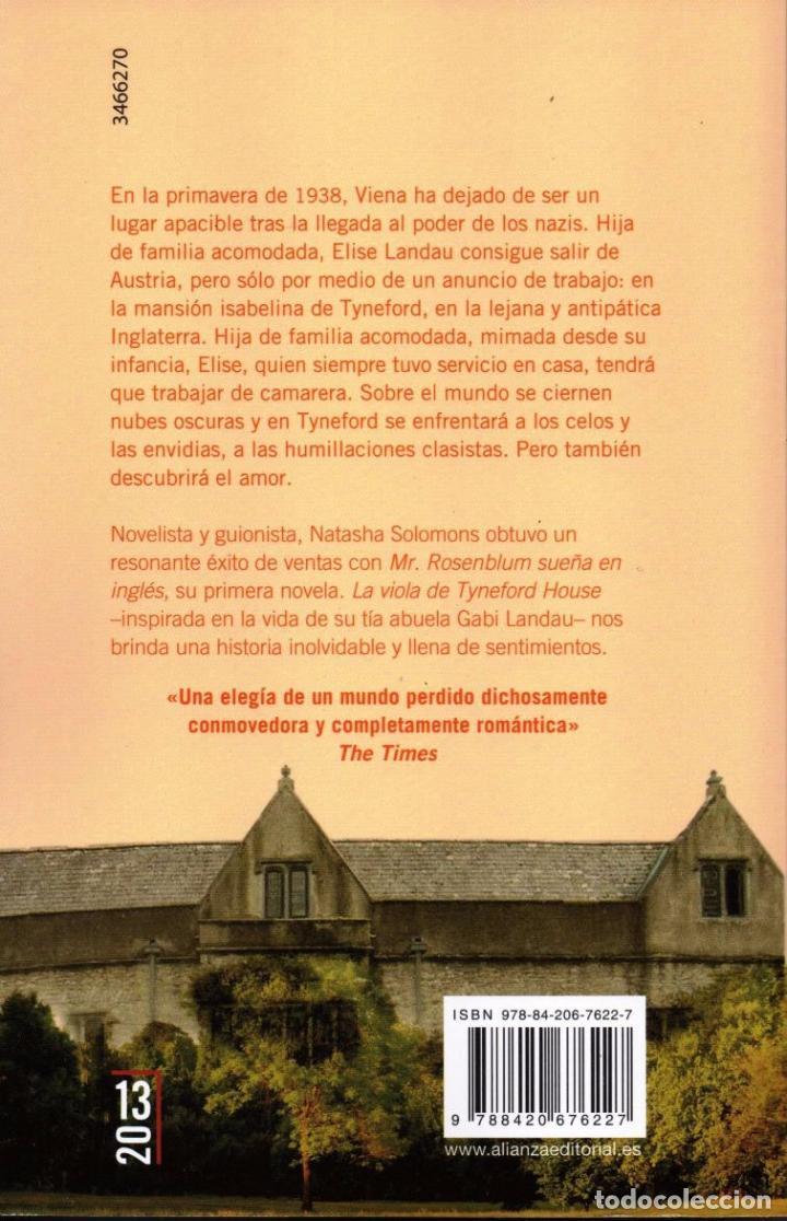Libros: LA VIOLA DE TYNEFORD HOUSE de NATASHA SOLOMONS - ALIANZA EDITORIAL, 2013 - Foto 2 - 220793226