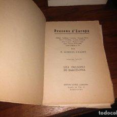 Libros: PRESONS D'EUROPA - SEGONA SERIE, F. GIRBAL JAUME,. Lote 102566042