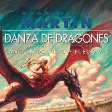 Libros: JUEGO DE TRONOS - CANCIÓN DE HIELO Y FUEGO 5 - DANZA DE DRAGONES COMPLETA 2 VOLUMENES - TAPA BLANDA . Lote 102777003