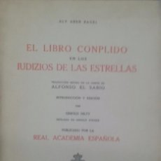 Libros: EL LIBRO CONPLIDO EN LOS IUDIZIOS DE LAS ESTRELLAS - ALY ABEN RAGEL. Lote 102789579