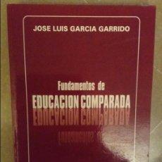 Libros: FUNDAMENTOS DE EDUCACION COMPARADA (JOSE LUIS GARCIA GARRIDO) DYKINSON. Lote 103357215