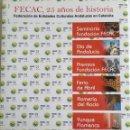 Libros: LIBRO FECAC. 25 AÑOS DE HISTORIA - FEDERACIÓN DE ENTIDADES CULTURALES ANDALUZAS EN CATALUÑA.. Lote 103681011