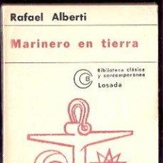 Libros: MARINERO EN TIERRA - ALBERTI, RAFAEL. Lote 104007344