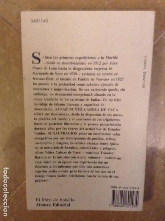 Libros: ALVAR NUÑEZ CABEZA DE VACA: NAUFRAGIOS (ALIANZA EDITORIAL) - Foto 2 - 105048399