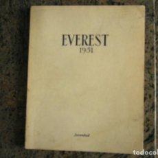 Libros: EVEREST 1951 - ED JUVENTUD. Lote 107039271