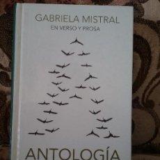 Libros: GABRIELA MISTRAL EN VERSO Y PROSA (ANTOLOGÍA). EXCELENTE ESTADO. REAL ACADEMIA ESPAÑOLA, ED. CONMEMO. Lote 107307355