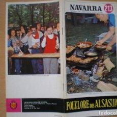 Libros: NAVARRA. TEMAS DE CULTURA POPULAR Nº 213. FOLKLORE DE ALSASUA.. Lote 107910859