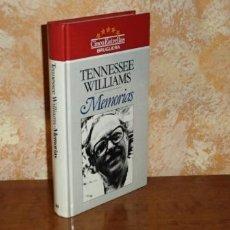 Livres: MEMORIAS - WILLIAMS, TENNESSEE. Lote 108078079