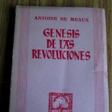 Libros: GENESIS DE LAS REVOLUCIONES - POR ANTOINE DE MEAUX - TEMAS ACTUALES - PRIMERA EDICIÓN 1945. Lote 108312519