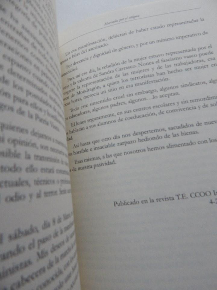 Libros: Marcados por el estigma. Terrorismo y víctimas en Euskadi - Jesús Prieto Mendaza - Foto 7 - 96564267