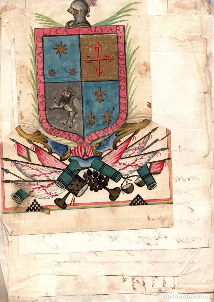 CARTA EJECUTORIA DE LOS HERMANOS DIEGO Y JUAN ALVAREZ ORDOÑEZ, Y OTROS PAPELES GENEALÓGICOS DE LOS A (Libros sin clasificar)