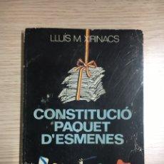 Libros: CONSTITUCIO PAQUET D'ESMENES. Lote 108946192