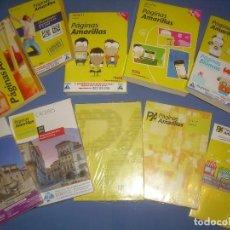 Libros: LOTE 10 GUÍAS PÁGINAS AMARILLAS CÁCERES. GUÍA TELEFÓNICA, 2005 A 2018. Lote 109090891