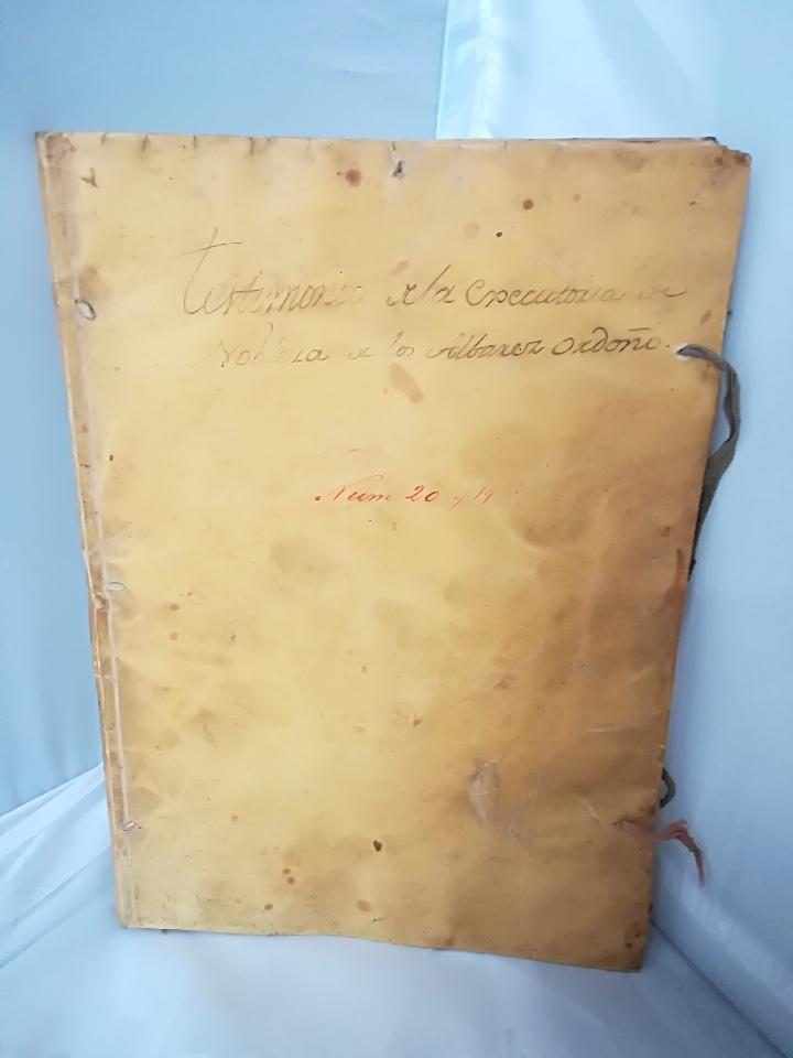 Libros: Carta Ejecutoria de los hermanos Diego y Juan Alvarez Ordoñez, y otros papeles genealógicos de los A - Foto 2 - 108856500