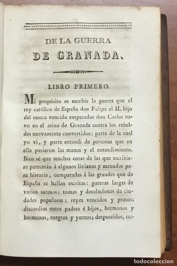 Libros: GUERRA DE GRANADA, hecha por el Rey D. Felipe II. contra los moriscos de aquel reino, sus rebeldes. - Foto 3 - 109545767