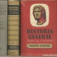 Libros: HISTORIA GENERAL. I. TIEMPOS ANTIGUOS. PREHISTORIA, ORIENTE, GRECIA. ROMA. II.TIEMPOS MEDIOS. III. T. Lote 109891304