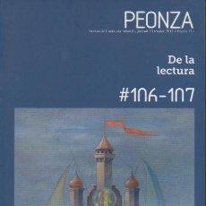 Libros: PEONZA. REVISTA DE LITERATURA INFANTIL Y JUVENIL. OCTUBRE 2013. N. 106-107. DE LA LECTURA. - REVISTA. Lote 109977976