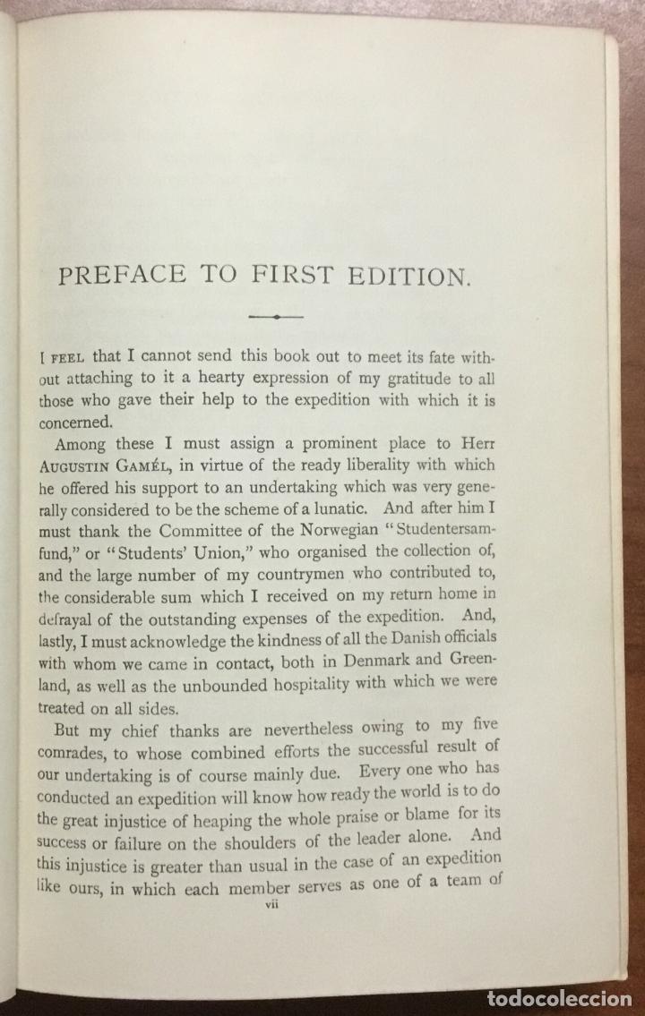 Libros: THE FIRST CROSSING OF GREENLAND. - NANSEN, Fridtjof. - Foto 4 - 109021195