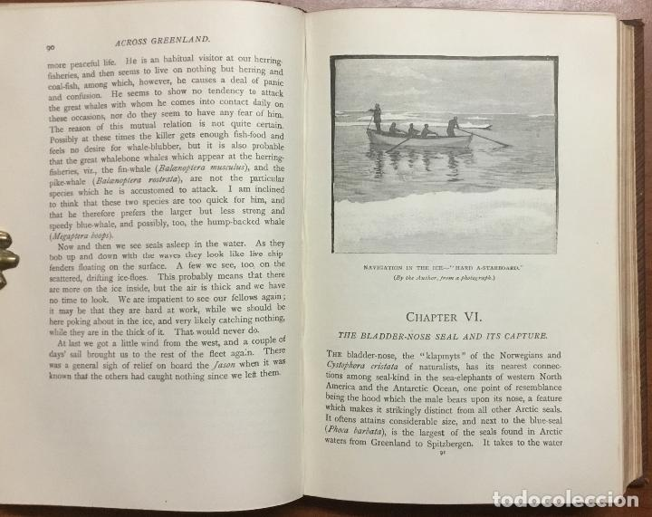Libros: THE FIRST CROSSING OF GREENLAND. - NANSEN, Fridtjof. - Foto 7 - 109021195