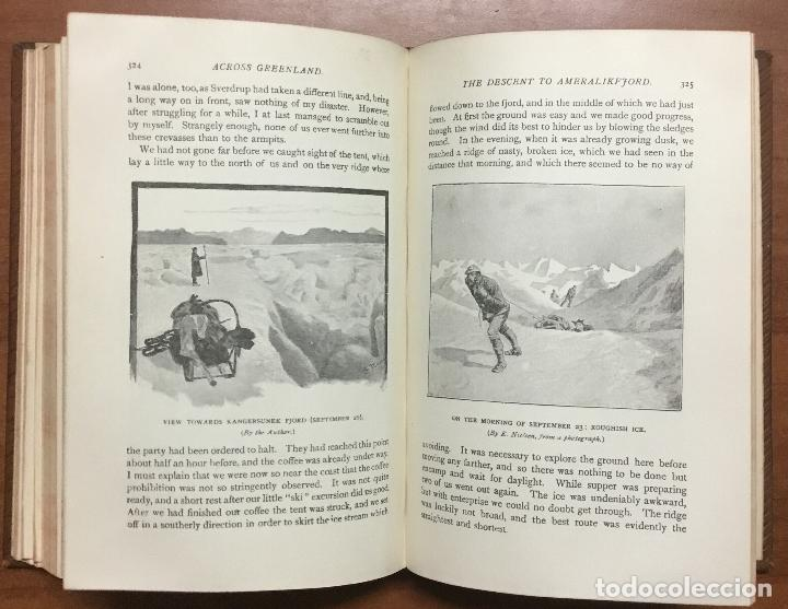 Libros: THE FIRST CROSSING OF GREENLAND. - NANSEN, Fridtjof. - Foto 8 - 109021195