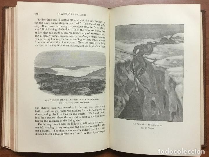 Libros: THE FIRST CROSSING OF GREENLAND. - NANSEN, Fridtjof. - Foto 9 - 109021195