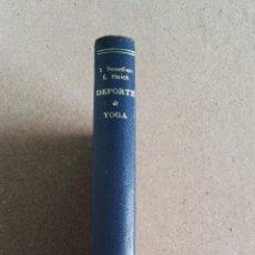 Libros: DEPORTE Y YOGA GARRIGA 1964. Lote 111338423