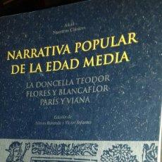 Libros: NARRATIVA POPULAR DE LA EDAD MEDIA.AKAL. Lote 111512910