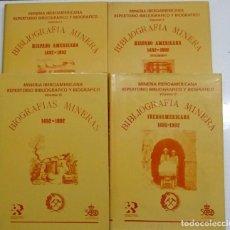 Libros: MINAS. MINERIA IBEROAMERICANA: REPERTORIO BIBLIOGRAFICO Y BIOGRAFICO 1492-1892.4 VOLUMENES. Lote 111990383