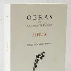 Libros: JIMÉNEZ, JUAN RAMÓN: ALERTA (VISOR) (CB). Lote 112133347