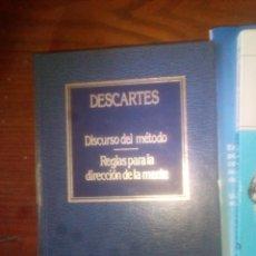 Libros: DISCURSO DEL MÉTODO / REGLAS PARA LA DIRECCIÓN DE LA MENTE RENÉ DESCARTES EDICIONES ORBIS 1983. Lote 112610955