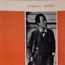 Libros: INTRODUCCIÓN A MAHLER. MESTRO Y PRECURSOS DE LA MÚSICA ACTUAL - SOPEÑA, FEDERICO. Lote 52232602