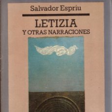 Libros: LETIZIA Y OTRAS NARRACIONES - SALVADOR ESPRIU; EDHASA FICCIONES - OFERTAS DOCABO. Lote 113021147