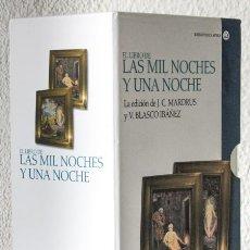 Libros: MARDRUS, J. C.; BLASCO IBÁÑEZ, V. (TR.): EL LIBRO DE LAS MIL Y UNA NOCHES (2 VOLS.) (CÁTEDRA) (CB). Lote 113119319