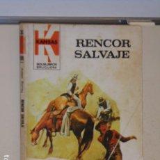 Libros: RENCOR SALVAJE ADAM SURRAY COLECCION KANSAS Nº 1178 - BRUGUERA -. Lote 113156479