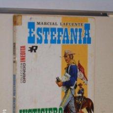 Libros: JUSTICIERO MISTERIOSO MARCIAL LAFUENTE ESTEFANIA COLECCION GRINGO INEDITA Nº 106 - BRUGUERA -. Lote 113156843