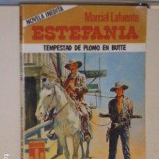 Libros: TEMPESTAD DE PLOMO EN BUTTE MARCIAL LAFUENTE ESTEFANIA COLECCION BRONCO OESTE 8 - BRUGUERA -. Lote 113161455