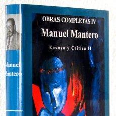 Libros: MANTERO, MANUEL: OBRAS COMPLETAS, IV. ENSAYO Y CRÍTICA, II (RD EDITORES) (CB). Lote 113293439