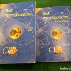 Libros: TEST PSICOTÉCNICOS Y SOLUCIONES - CEP EDITORIAL. Lote 113835139