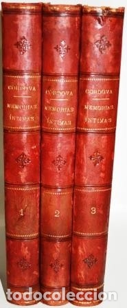 MIS MEMORIAS ÍNTIMAS. 3 TOMOS - FERNÁNDEZ DE CÓRDOVA, FERNANDO (MARQUÉS DE MENDIGORRÍA) (Libros sin clasificar)