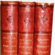 Libros: MIS MEMORIAS ÍNTIMAS. 3 TOMOS - FERNÁNDEZ DE CÓRDOVA, FERNANDO (MARQUÉS DE MENDIGORRÍA). Lote 114868566