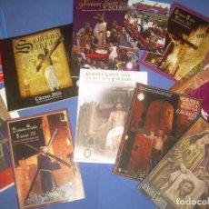 Libros: LOTE 11 REVISTA PROGRAMA SEMANA SANTA CÁCERES 1998, 2010, 2011, 2012, 2013, 2014, 2015, 2016. Lote 115340391