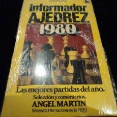 Libros: INFORMADOR AJEDREZ 1980. LAS MEJORES PARTIDAS DEL AÑO - ANGEL MARTIN. Lote 115350587