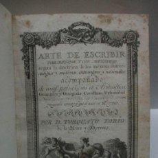 Libros: ARTE DE ESCRIBIR POR REGLAS Y CON MUESTRAS...TORÍO DE LA RIVA Y HERRERO, TORQUATO. 1802.. Lote 114799322