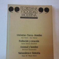 Libros: HOS. FE CRISTIANA Y SOCIEDAD MODERNA. Nº 3. EDC SM. Lote 115550399