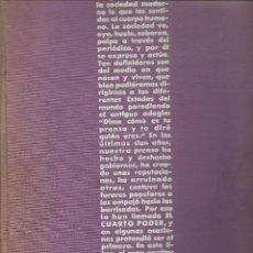 Libros: EL CUARTO PODER. COLECCIÓN: PANORAMA DE UN SIGLO. AGUILAR 1960. (P/B60). Lote 115573547