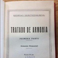 Libros: TRATADO DE ARMONIA ELEMENTAL. Lote 218788381