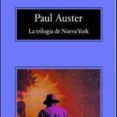 Libros: LA TRILOGÍA DE NUEVA YORK: CIUDAD DE CRISTAL / FANTASMAS / LA HABITACIÓN CERRADA - PAUL AUSTER. Lote 115876050