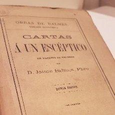 Libros: BALMES (JAIME) - BALMES (JAIME). Lote 117198394
